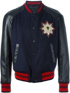 куртка-бомбер с кожаными рукавами Alexander McQueen
