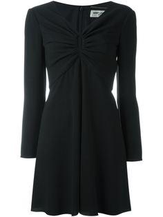 платье c V-образным вырезом   Saint Laurent