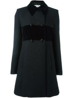 двубортное пальто с классическим воротником Saint Laurent