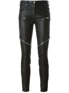 байкерские брюки на молнии  Givenchy