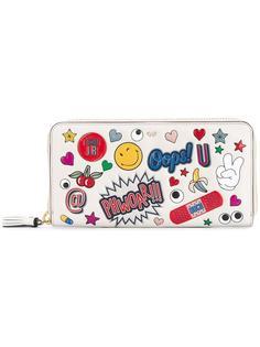 кошелек с комбинированным принтом Anya Hindmarch