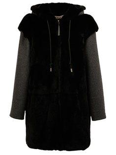 пальто из кроличьего меха с капюшоном Marni