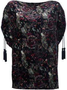 блузка с принтом пейсли  Roberto Cavalli