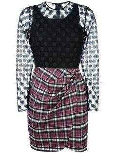 платье с клетчатой юбкой Giamba