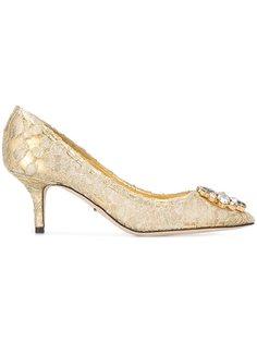кружевные туфли-лодочки Bellucci Dolce & Gabbana