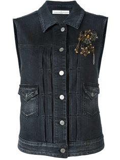 джинсовая жилетка с украшениями Golden Goose Deluxe Brand