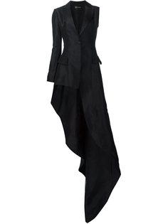 асимметричный блейзер со шлейфом Christian Siriano