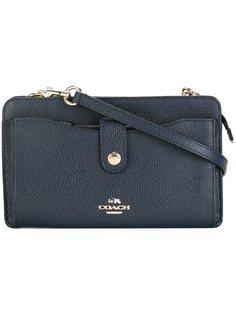сумка через плечо с застежкой на кнопку Coach