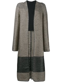 жаккардовое пальто с геометрическим рисунком Haider Ackermann