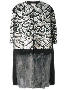 меховое пальто с принтом  Antonio Marras