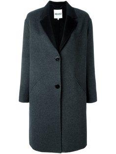 однобортное пальто  Kenzo