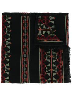 шарф с геометрическим узором Valentino