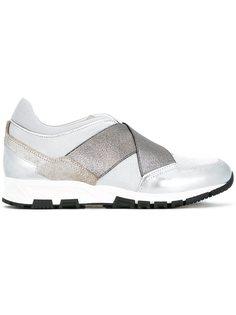 кроссовки с перекрещивающимися ремешками   Lanvin