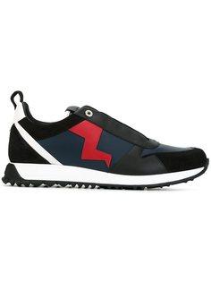 кроссовки с аппликацией  Fendi
