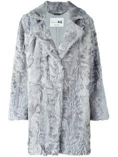 меховое пальто с лацканами Manzoni 24