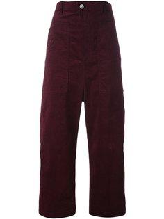 укороченные бархатные брюки Julien David
