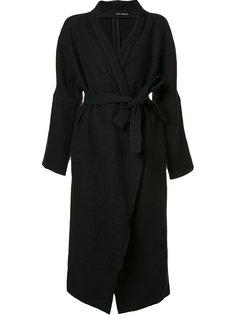удлиненное пальто с поясом Isabel Benenato