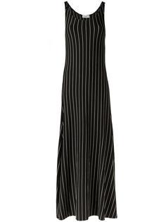 длинное платье в полоску Amir Slama