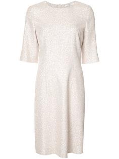 платье шифт с металлическим отблеском Lanvin
