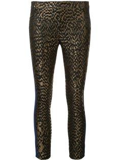 жаккардовые брюки с контрастными полосками Haider Ackermann