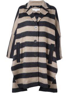 свободное пальто в полоску  Stella McCartney