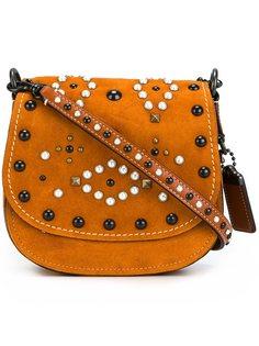 декорированная полукруглая сумка Coach