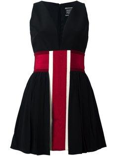 платье в полоску с V-образным вырезом Fausto Puglisi
