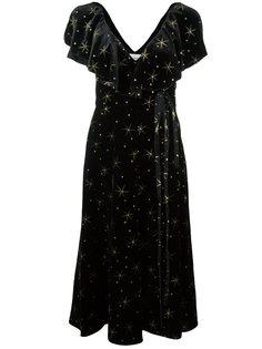 платье с вышитыми звездами Valentino