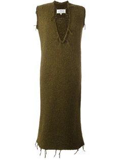 трикотажное платье с необработанными краями Maison Margiela