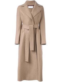 длинное пальто с поясом Harris Wharf London