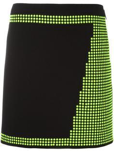 мини-юбка с заклепками Christopher Kane