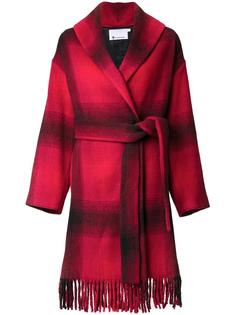 пальто в клетку T By Alexander Wang
