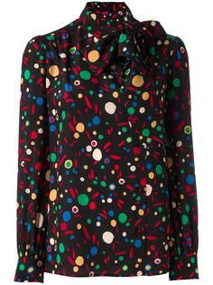 блузка с узором и бантом Saint Laurent