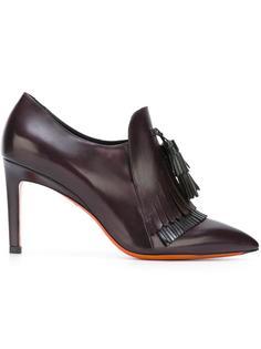 туфли с бахромой Santoni