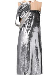 платье до колена с бархатным слоем Maison Margiela