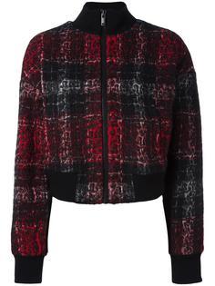 клетчатая куртка-бомбер Rose DKNY