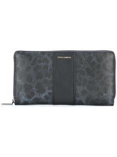 удлиненный кошелек с леопардовым рисунком Dolce & Gabbana