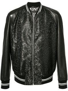 куртка-бомбер с кожаными панелями Alexander McQueen