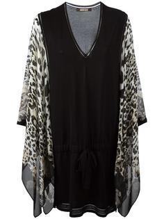платье-шифт с леопардовым принтом Roberto Cavalli