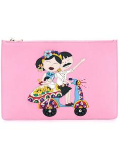клатч с нашивкой #DG family Dolce & Gabbana