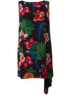 платье с тропическим узором Valentino