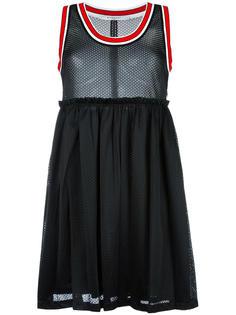 сетчатое платье с полосатой окантовкой Givenchy