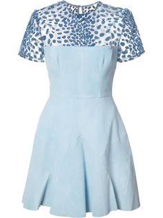 расклешенное платье с прозрачной панелью Alex Perry