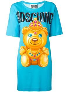 платье-футболка с принтом медведя Moschino