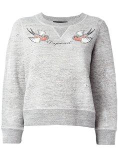 толстовка с птицами и логотипом Dsquared2