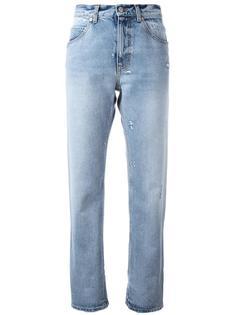 джинсы бойфренды с подворотами Alexander McQueen
