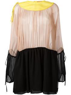 платье-шифт в стиле колор-блок  Nº21