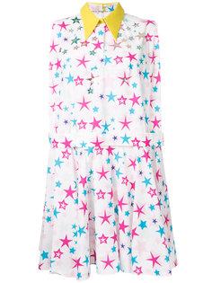 платье с принтом звезд  Delpozo