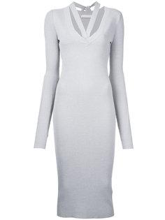 платье с ремешками на груди Dion Lee