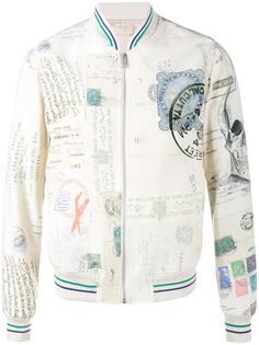 куртка-бомбер с принтом Letters from India Alexander McQueen